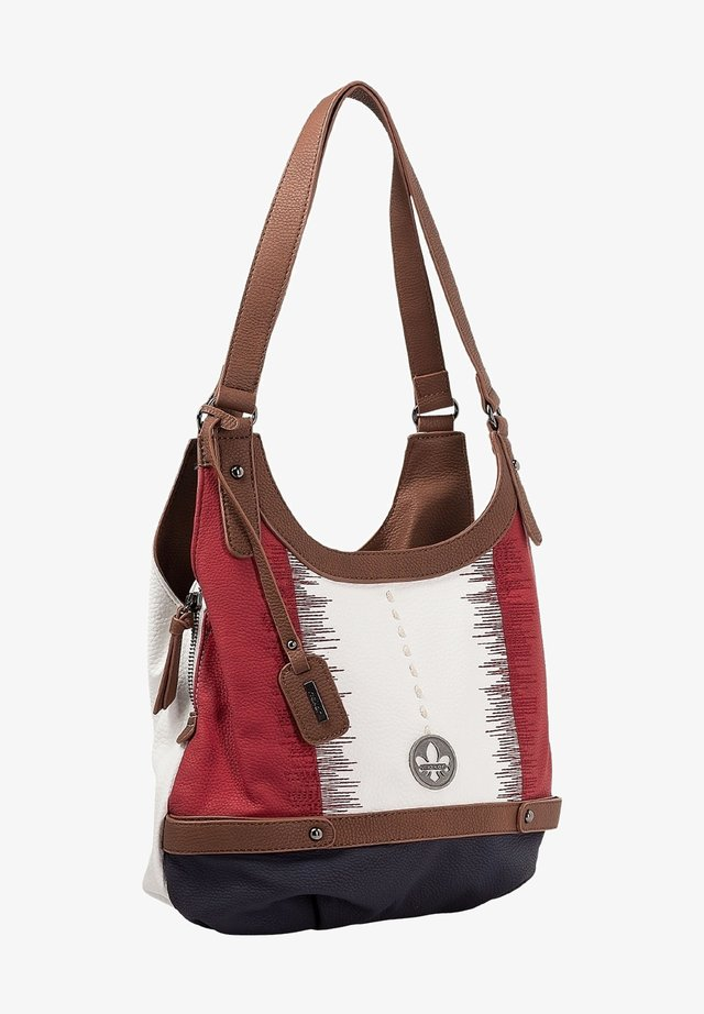 Handbag - white pacific red brown