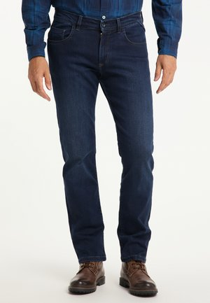 ERIC MEGAFLEX - Straight leg jeans - dark used