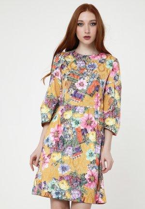 Cocktail dress / Party dress - senf, rosa