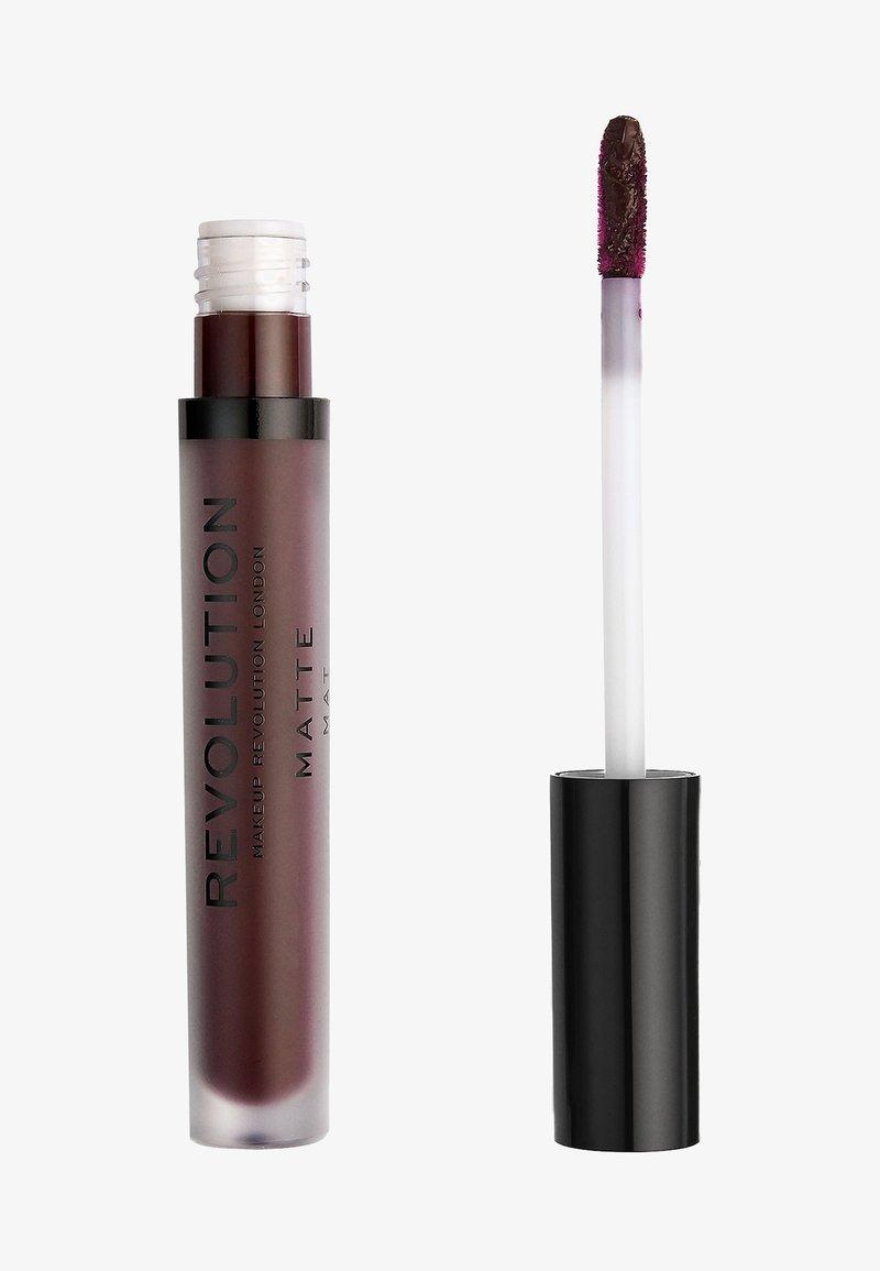 Make up Revolution - MATTE LIP - Liquid lipstick - plum