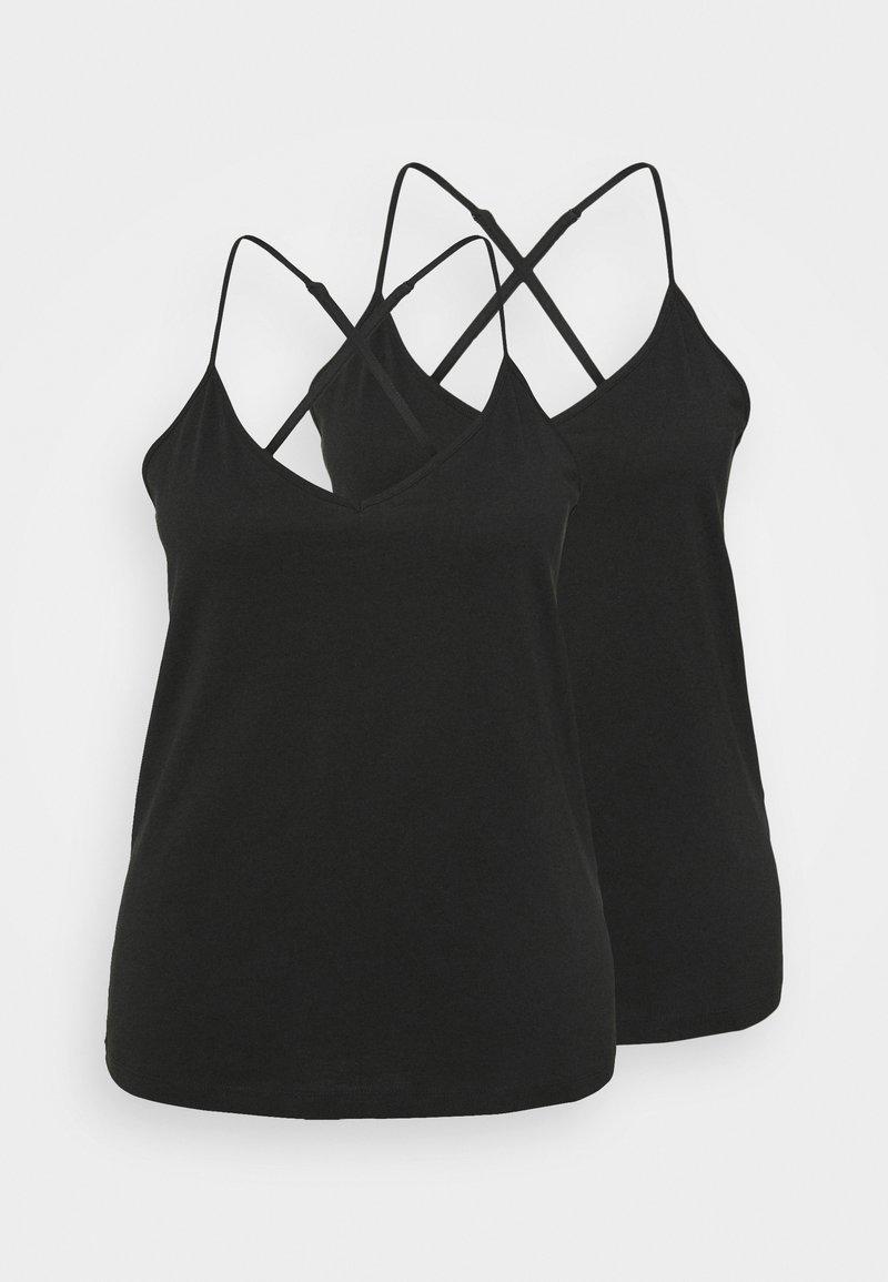 Vero Moda Curve - VMADAREBECCA SINGLET 2 PACK - Top - black