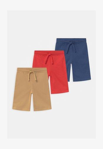 3 PACK - Shorts - dark blue/red/tan