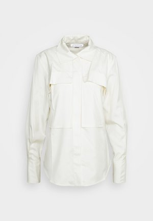 FUNNEL NECK  - Button-down blouse - off white