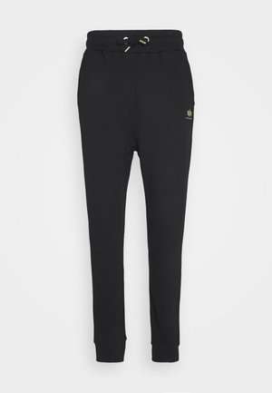 BASIC JOGGER FOIL - Spodnie treningowe - black/yellow gold