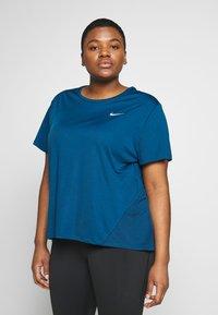 Nike Performance - DRY MILER PLUS - Basic T-shirt - valerian blue - 0