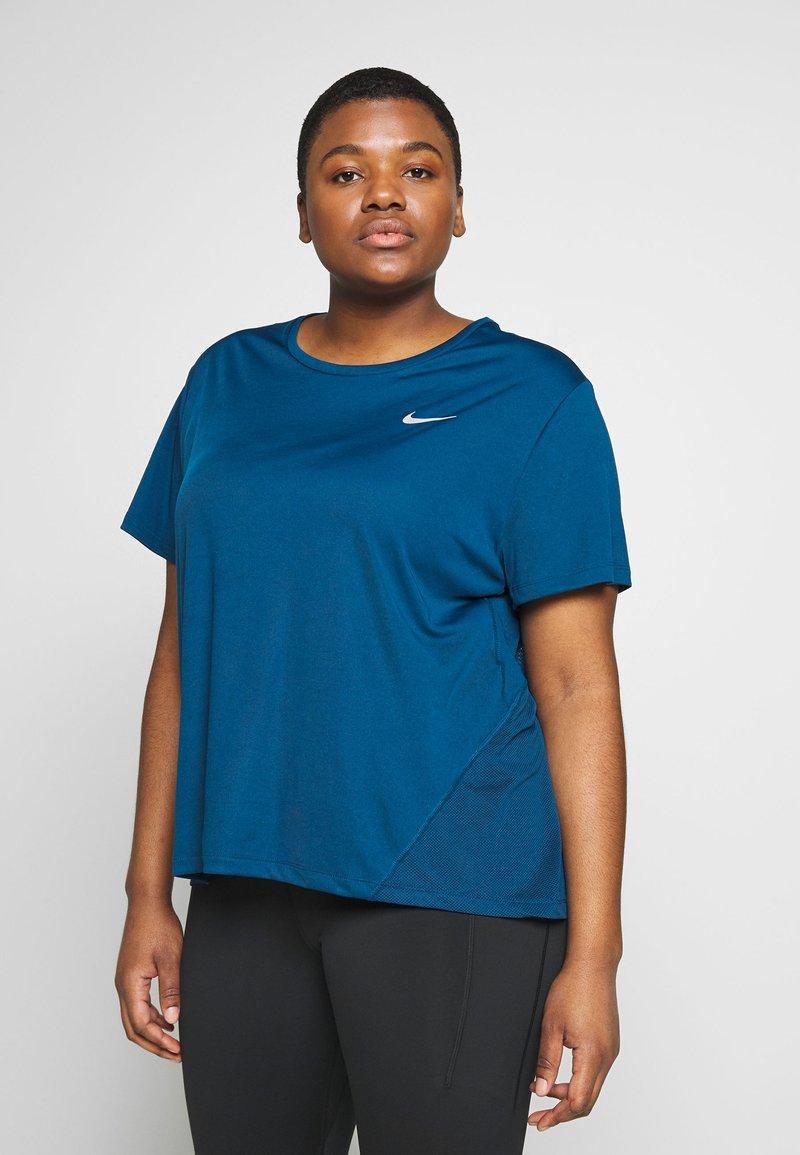 Nike Performance - DRY MILER PLUS - Basic T-shirt - valerian blue