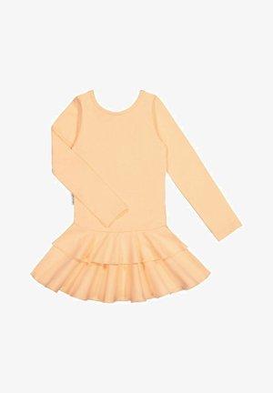 LONG SLEEVED DRESS FRILLA - Day dress - honey