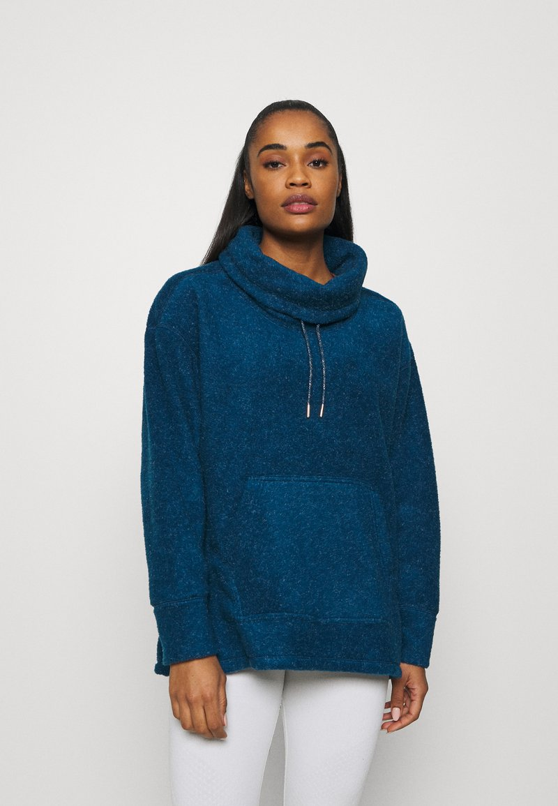 Nike Performance - COZY COWL - Fleece jumper - valerian blue heather/metallic silver