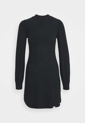 COZY SHORT DRESS - Abito in maglia - black