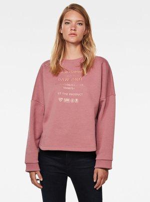 GRAPHIC TEXT RELAXED - Sweatshirt - garnet bleach