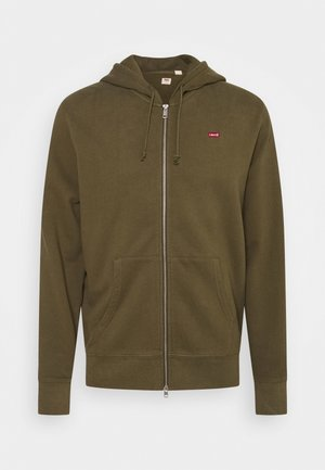 NEW ORIGINAL ZIP UP - Huvtröja med dragkedja - olive night