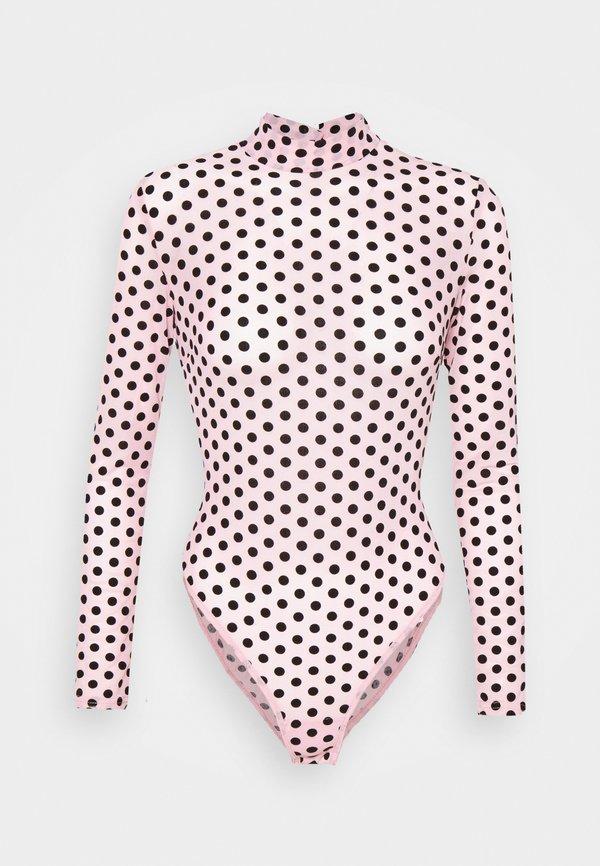 Missguided BODYSUIT - Bluzka - baby pink/rÓżowy JIRB