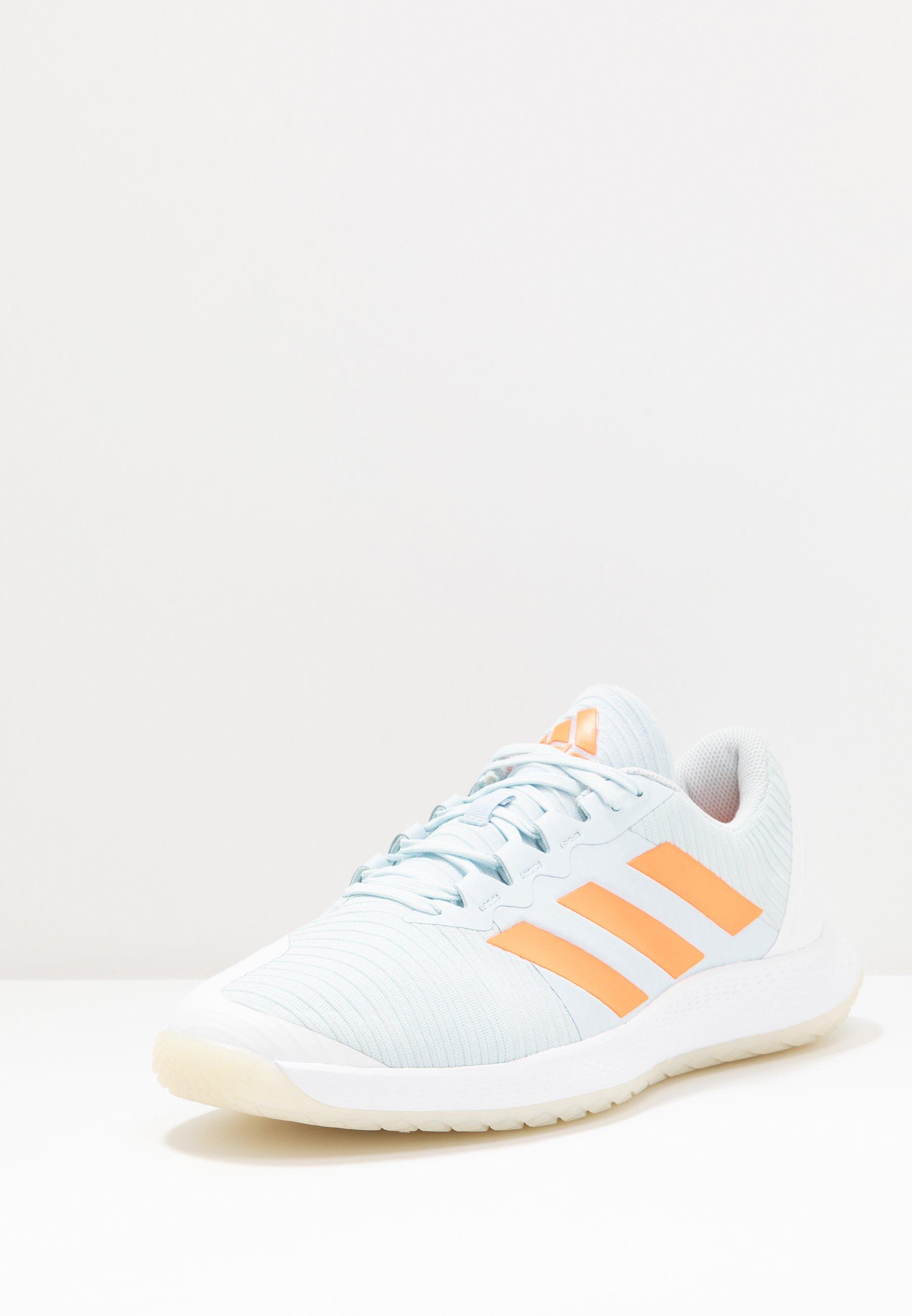 Adidas Performance Forcebounce - Volleyballsko Sky Tint/signal Orange/footwear White