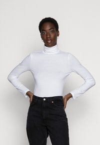 Anna Field - BASIC - T-shirt à manches longues - white - 0