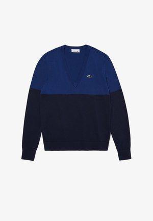 MIT V-AUSSCHNITT - Sweter - bleu marine / bleu marine