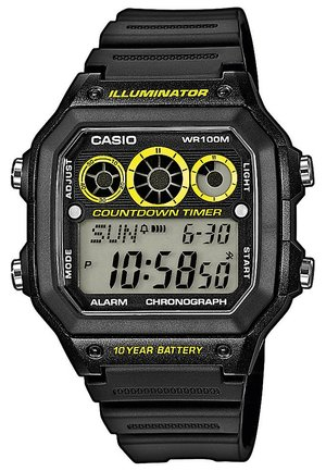 AE-1300WH-1AVEF - Digitaalikello - schwarz/gelb