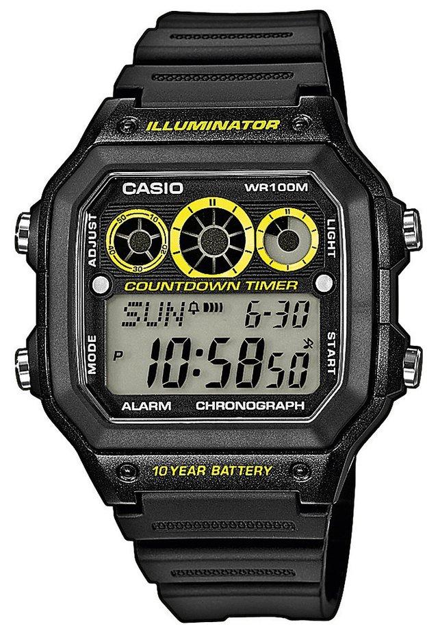AE-1300WH-1AVEF - Digitalklokke - schwarz/gelb