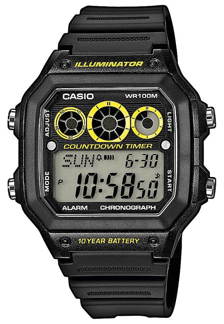 Casio - AE-1300WH-1AVEF - Digitalklocka - schwarz/gelb