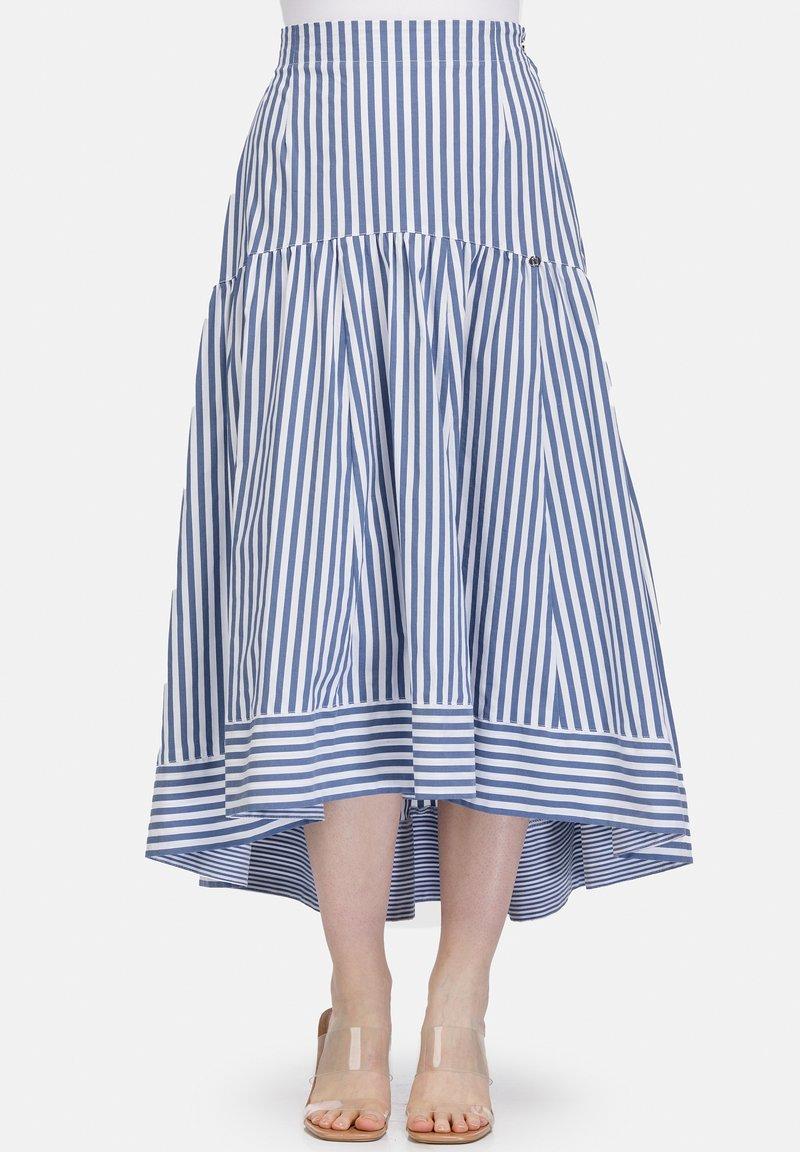 HELMIDGE - A-line skirt - hellblau