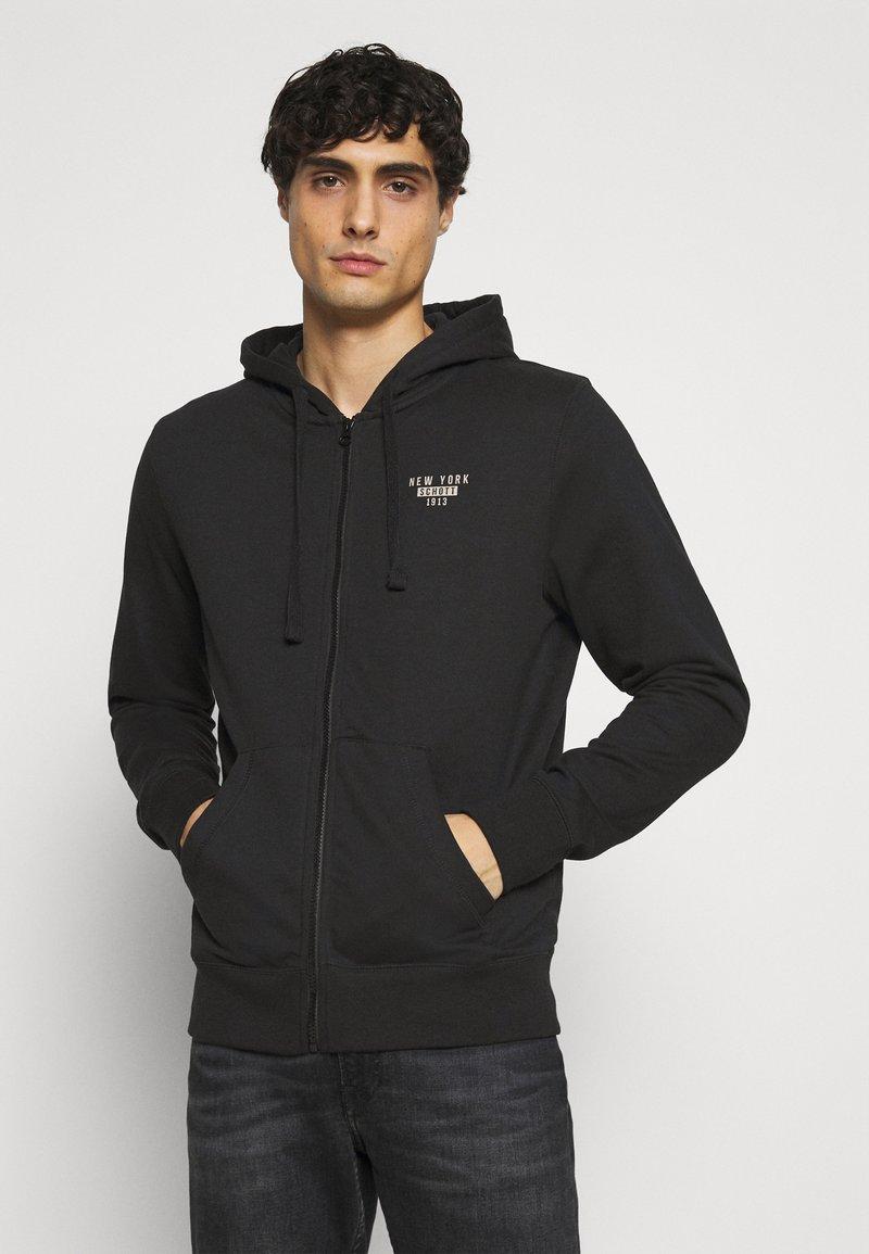 Schott - Zip-up hoodie - black