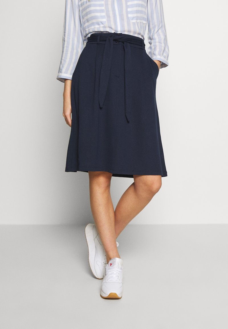 King Louie - AVA SKIRT MILANO CREPE - A-line skjørt - dark navy