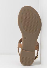 Anna Field - LEATHER - T-bar sandals - cognac - 6