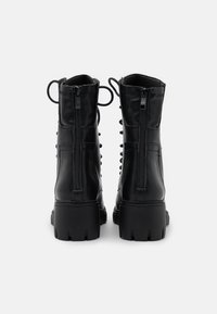 Missguided - LACE UP EYELET - Lace-up ankle boots - black - 3