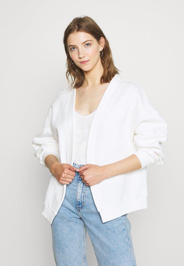 PERFECT CARDIGAN - Mikina na zip - white