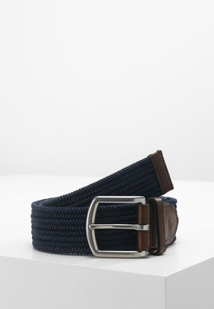 BRAIDED FABRIC STRETCH - Belt - navy