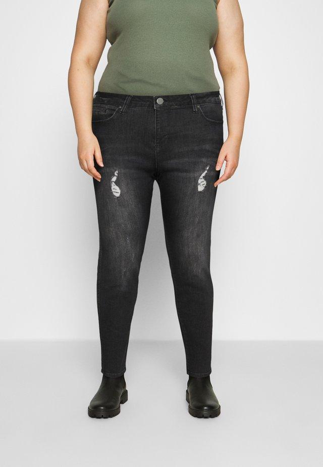 JTINLEY AMY - Skinny džíny - gret denim