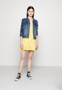 Hollister Co. - BARE SHORT DRESS - Day dress - yellow - 1