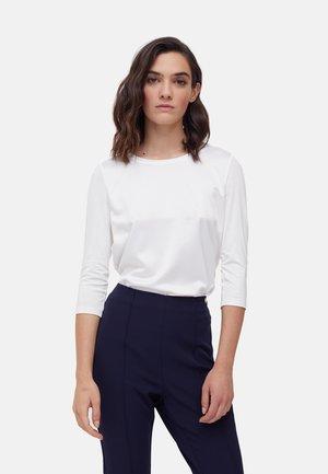 EN DEUX TISSUS - Long sleeved top - bianco