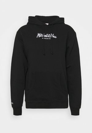 BRANDED PINSCRIPT HOODY - Sweatshirt - black