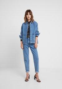 Selected Femme - SLFLOU DAWN - Slim fit jeans - dark blue denim - 1