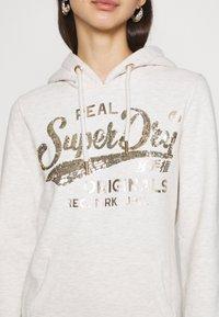 Superdry - SCRIPT SEQUIN HOOD - Sweatshirt - beige - 5