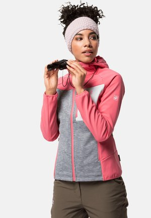 Soft shell jacket - coral pink