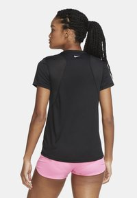 Nike Performance - Print T-shirt - black/black/white - 2