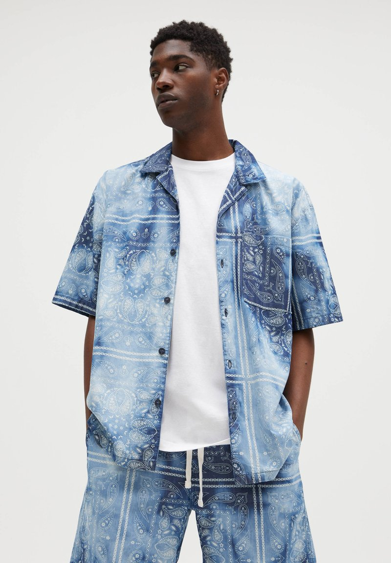 PULL&BEAR - Camicia - blue