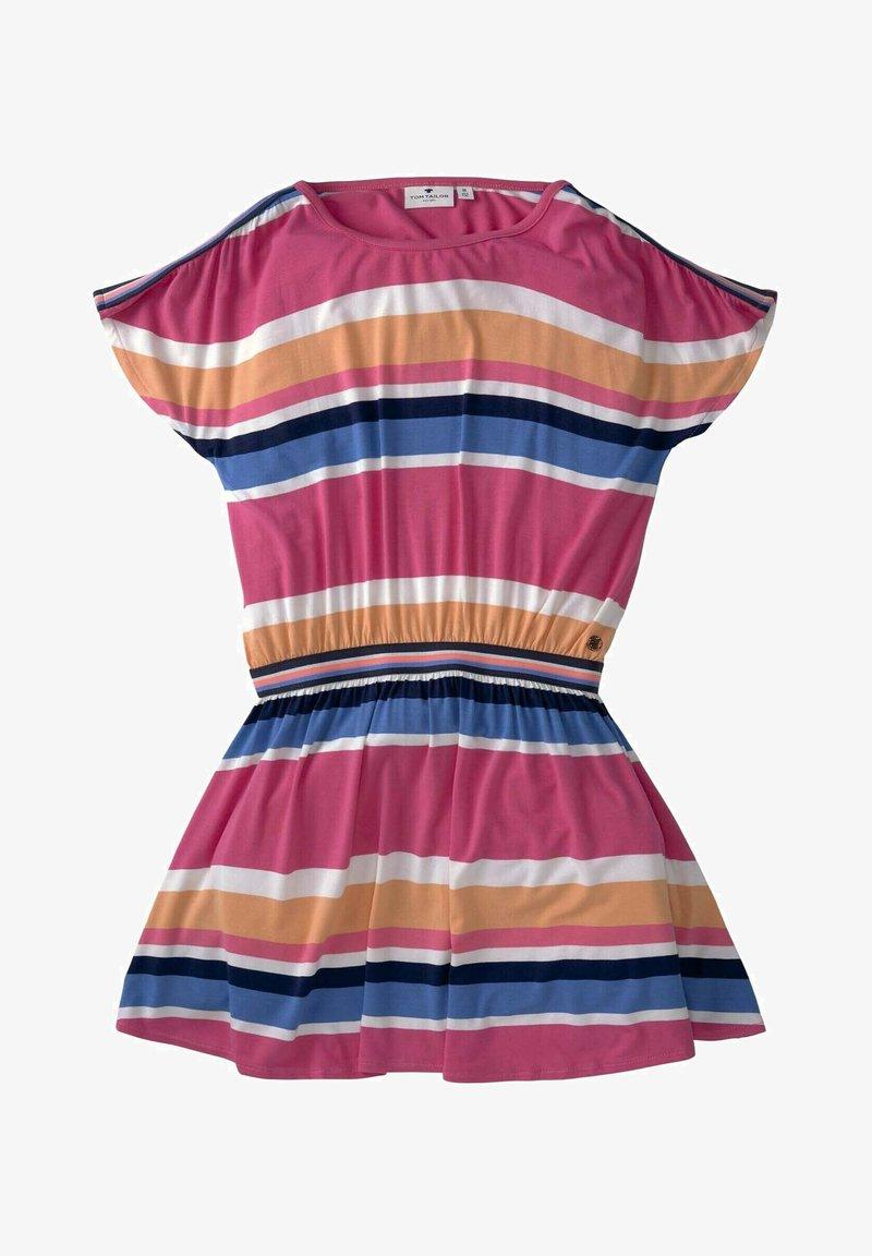 TOM TAILOR - Jersey dress - kids stripe mulitcolored