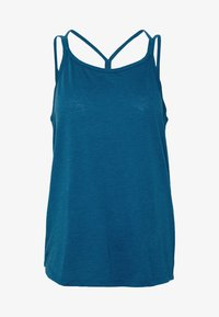 Nike Performance - YOGA STRAPPY TANK - Top - valerian blue/industrial blue - 5
