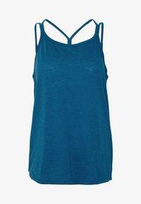 Nike Performance - YOGA STRAPPY TANK - Topper - valerian blue/industrial blue - 5