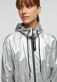 KARL LAGERFELD - Waterproof jacket - silver - 4