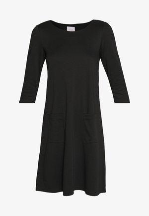 VITINNY  3/4 SLEEVE POCKET DRESS - Jerseykjole - black