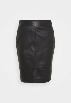 FRANCIE MINI SKIRT - Bleistiftrock - black