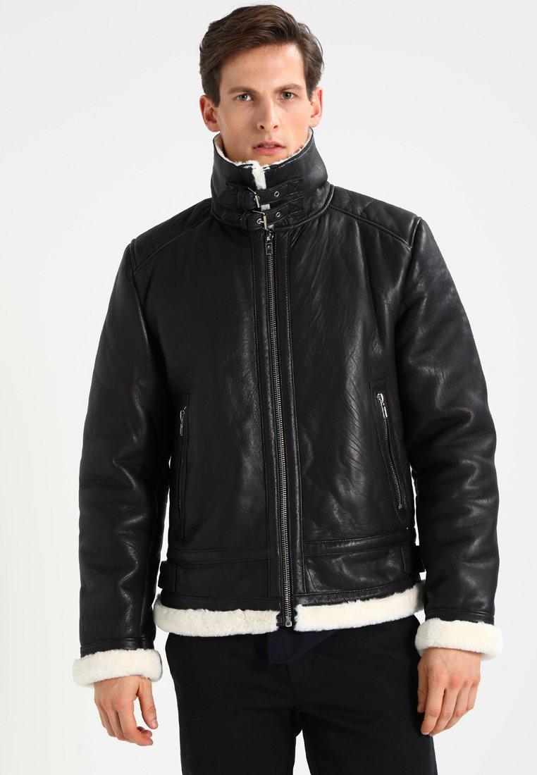 Be Edgy - BEANDREW - Leather jacket - black/white
