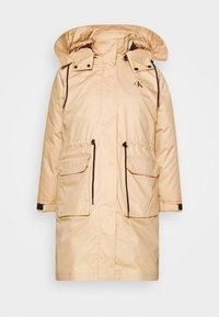 Calvin Klein Jeans - LONG UTILITY HOODED  - Winter coat - irish cream - 8