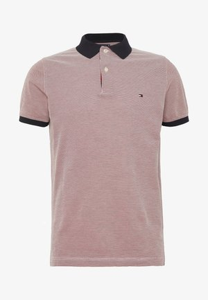 STRUCTURED SLIM FIT - Polo - red