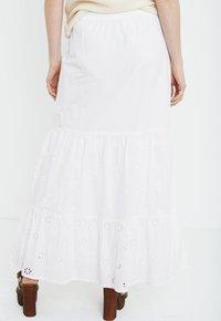 PULZ - Maxi skirt - bright white - 2