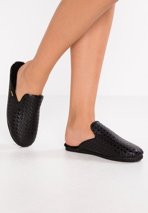 SLIPPER BRAIDED - Hausschuh - black