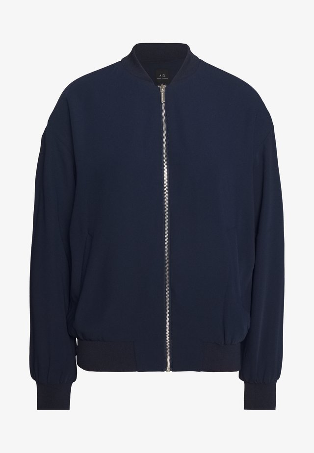 BLOUSON - Bomber Jacket - blueberry/off white